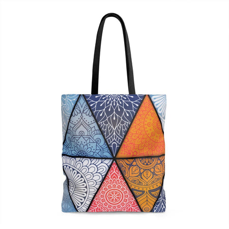 Genesis Boho Gypsy Hippie Triangle Mandala Shopping Yoga Tote Bag Large Bags