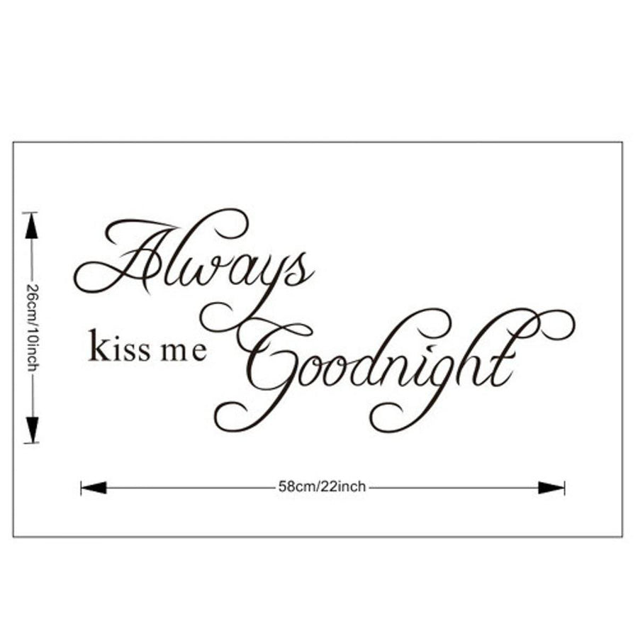 Goodnight Wall Sticker Quotes Wall Sticker goodnight-wall-sticker Default Title