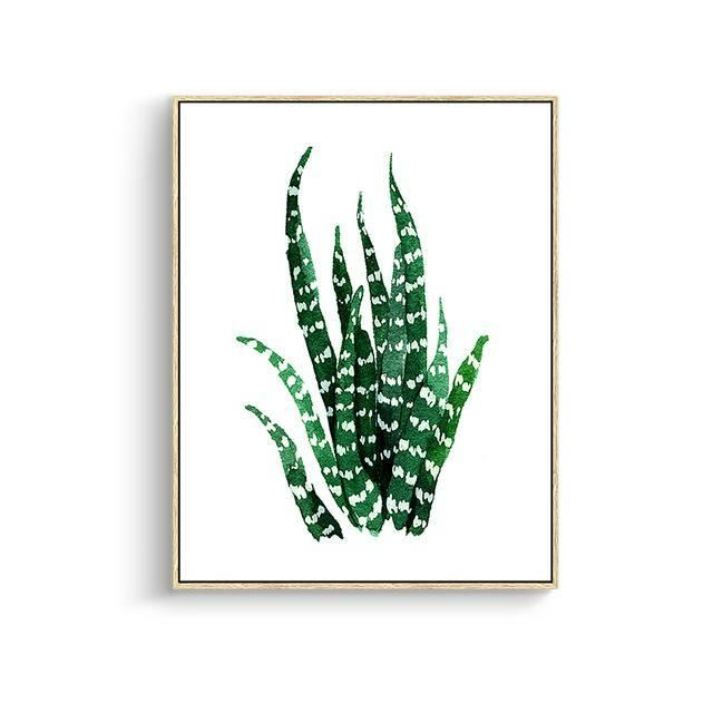 Green Leaves Canvas Prints 15X20Cm No Frame / Jk 085 Wall Art