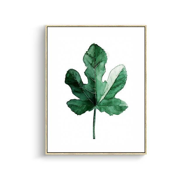 Green Leaves Canvas Prints 15X20Cm No Frame / Jk 003 Wall Art