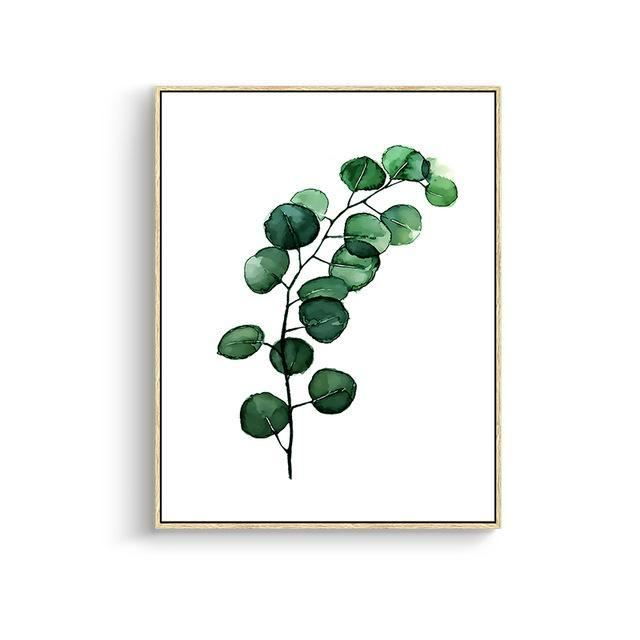 Green Leaves Canvas Prints 15X20Cm No Frame / Jk 007 Wall Art