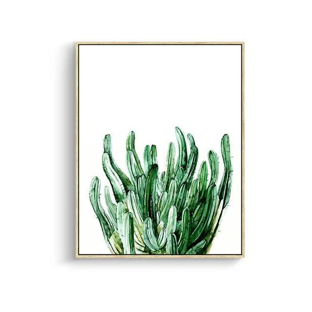 Green Leaves Canvas Prints 15X20Cm No Frame / Jk 084 Wall Art