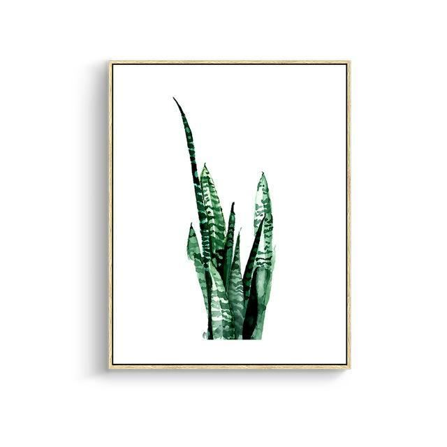 Green Leaves Canvas Prints 15X20Cm No Frame / Jk 001 Wall Art