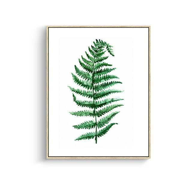 Green Leaves Canvas Prints 15X20Cm No Frame / Jk 006 Wall Art