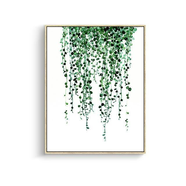 Green Leaves Canvas Prints 15X20Cm No Frame / Jk 081 Wall Art