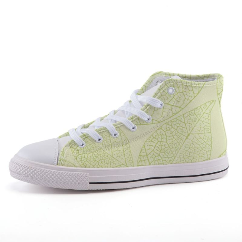 Green Leaves Sneakers Shoes
