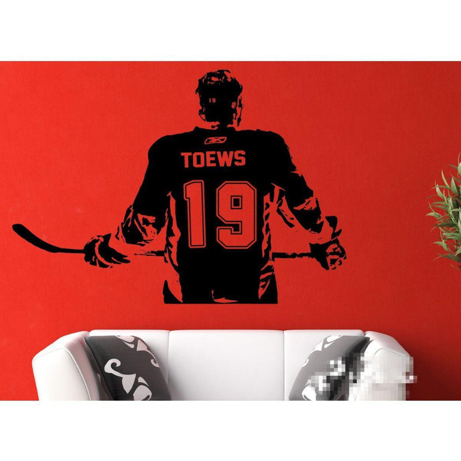 Hockey Player Wall Sticker sports Wall Sticker hockey-player-wall-art-decal-sticker-choose-name-number-personalized-home-decor-wall-stickers-for-kids-room-vinilos-paredes-d645 black / medium 55X80cm