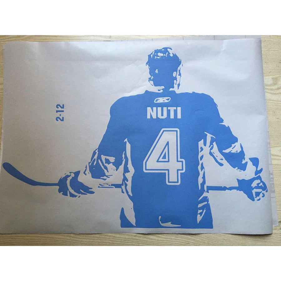 Hockey Player Wall Sticker sports Wall Sticker hockey-player-wall-art-decal-sticker-choose-name-number-personalized-home-decor-wall-stickers-for-kids-room-vinilos-paredes-d645 blue / medium 55X80cm
