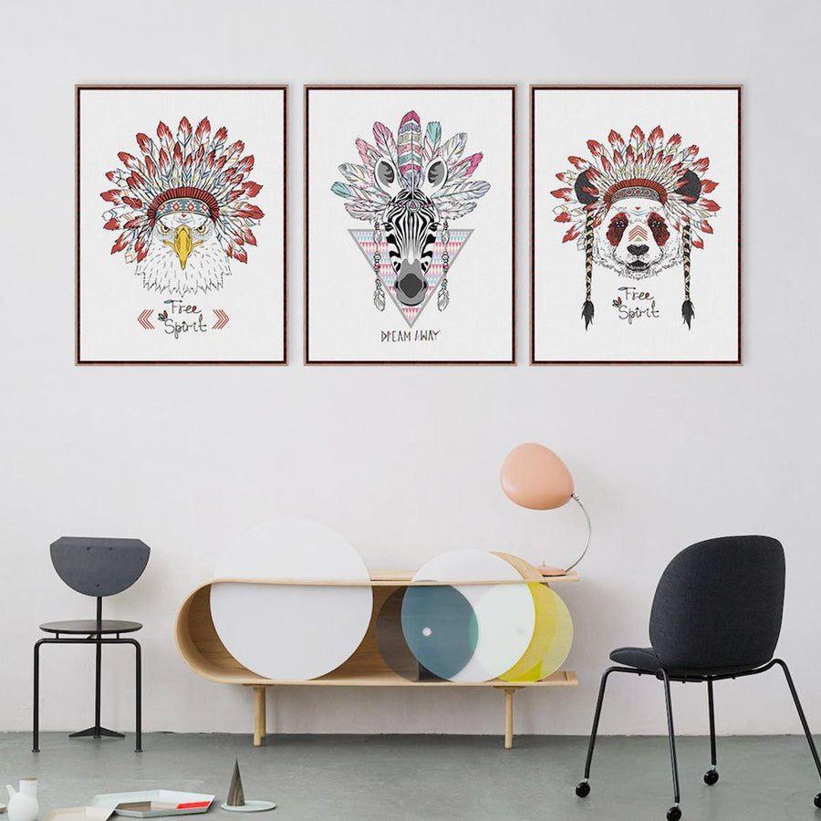 Indian Animals canvas Art Prints wall Hanging Art Home Decoration ...