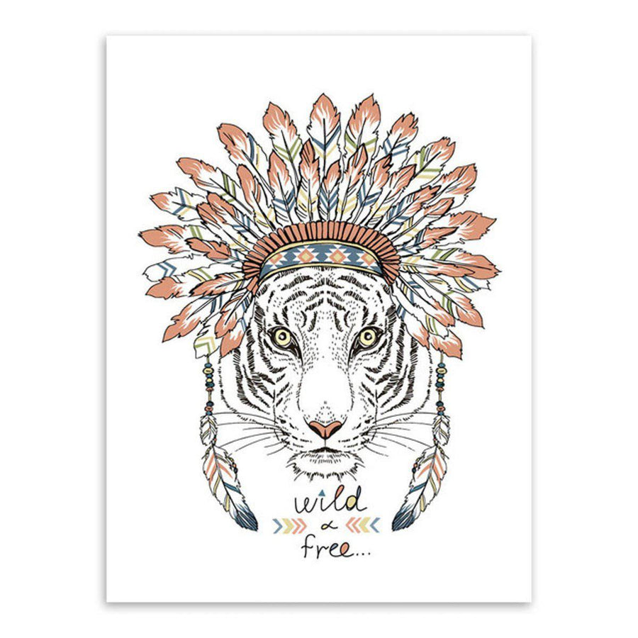 Indian Animals Art Wall Art indian-animals-art 13x18 cm No Frame / tiger