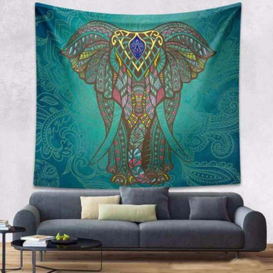 Indian Elephant Tapestry Elephant Tapestrie indian-elephant-tapestry Default Title