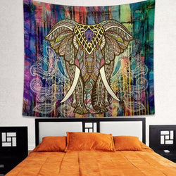 Indian Elephant Tapestry Tapestrie indian-elephant-tapestry-1 Default Title