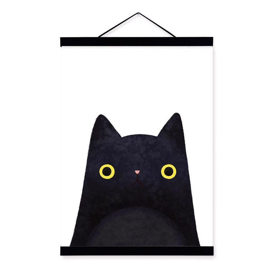Japanese Cat Pet Canvas Wall Art japanese-cat-pet-canvas 13x18 cm No Frame / black