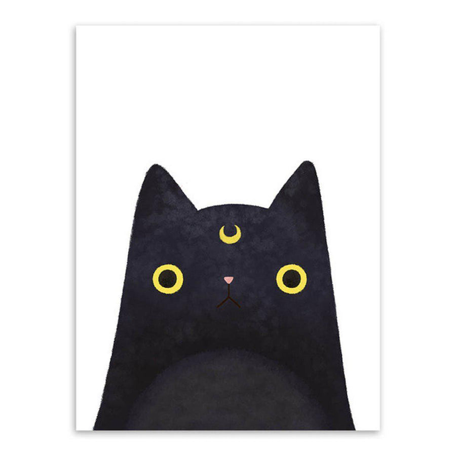 Japanese Cat Pet Canvas Wall Art japanese-cat-pet-canvas 13x18 cm No Frame / luna