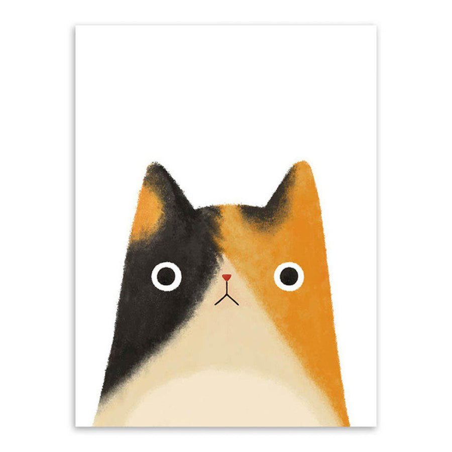 Japanese Cat Pet Canvas Wall Art japanese-cat-pet-canvas 13x18 cm No Frame / mix