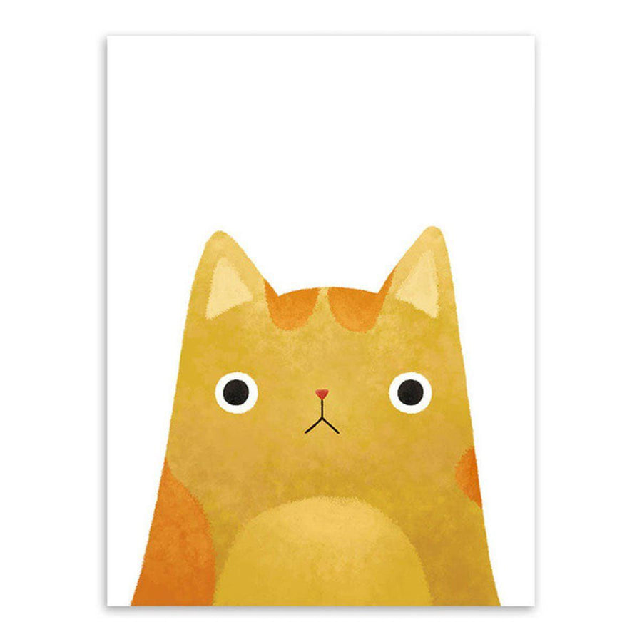 Japanese Cat Pet Canvas Wall Art japanese-cat-pet-canvas 13x18 cm No Frame / yellow
