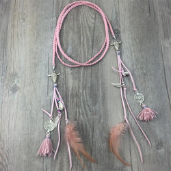Long Leather Necklace Choker, Long, Tribal Necklaces