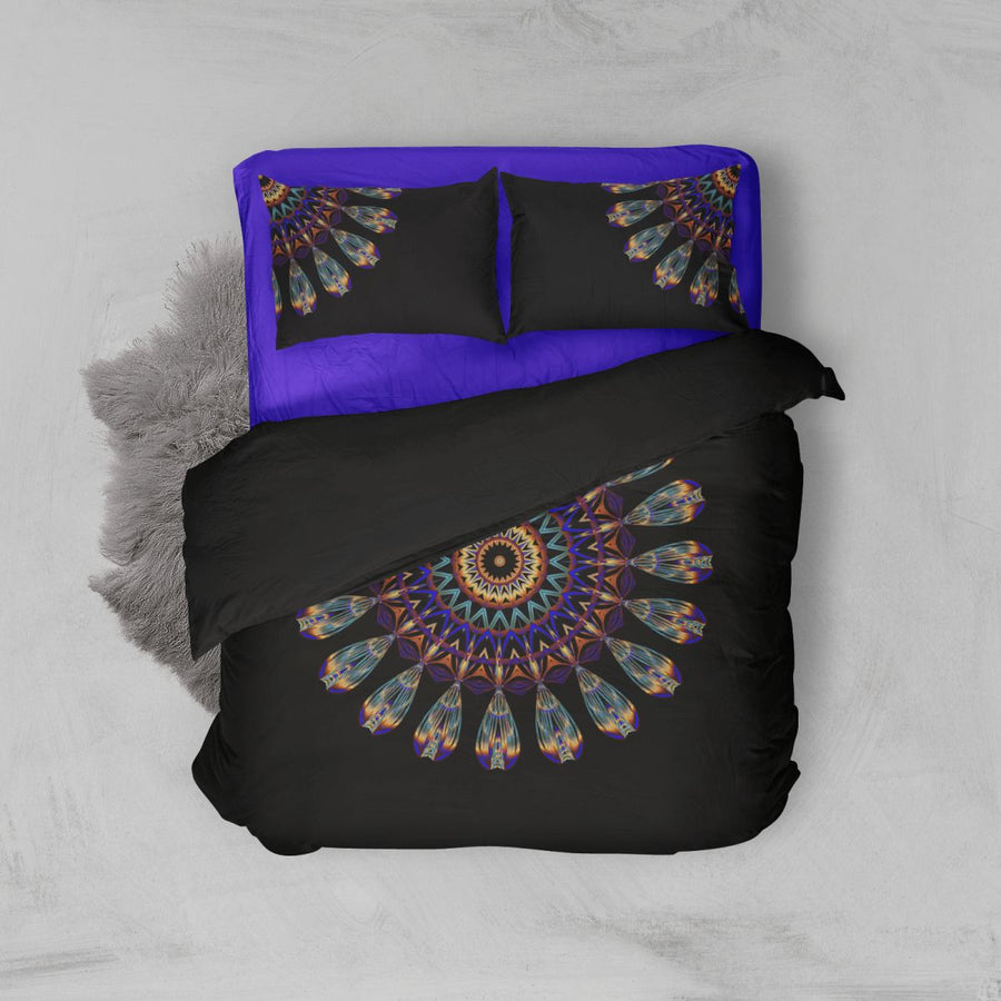 Mandala Feather Duvet Cover Bedding Bedspread Tapestry Gypsy Hippie Sets