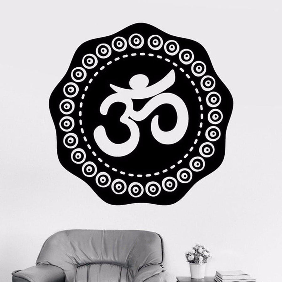Mandala Wall Sticker Other Wall Sticker mandala-wall-sticker-home-decal-buddha-yin-yang-floral-yoga-meditation-vinyl-decal-wall-art-mural-home-decor-decoration-d175 10