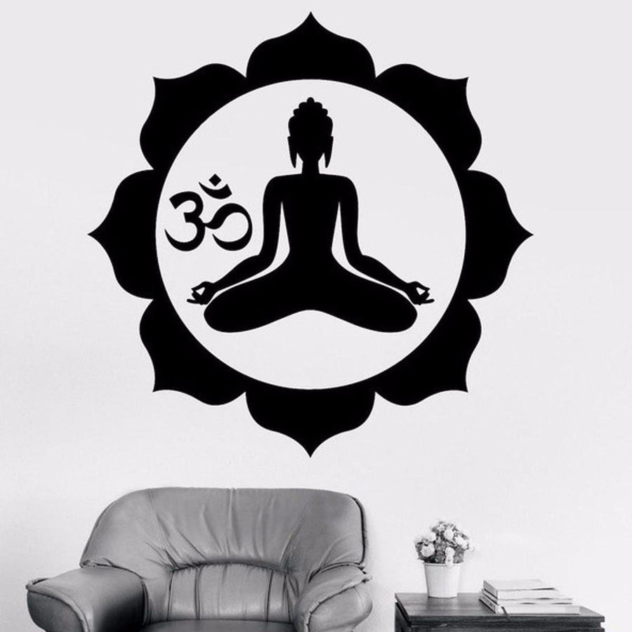 Mandala Wall Sticker Other Wall Sticker mandala-wall-sticker-home-decal-buddha-yin-yang-floral-yoga-meditation-vinyl-decal-wall-art-mural-home-decor-decoration-d175 11