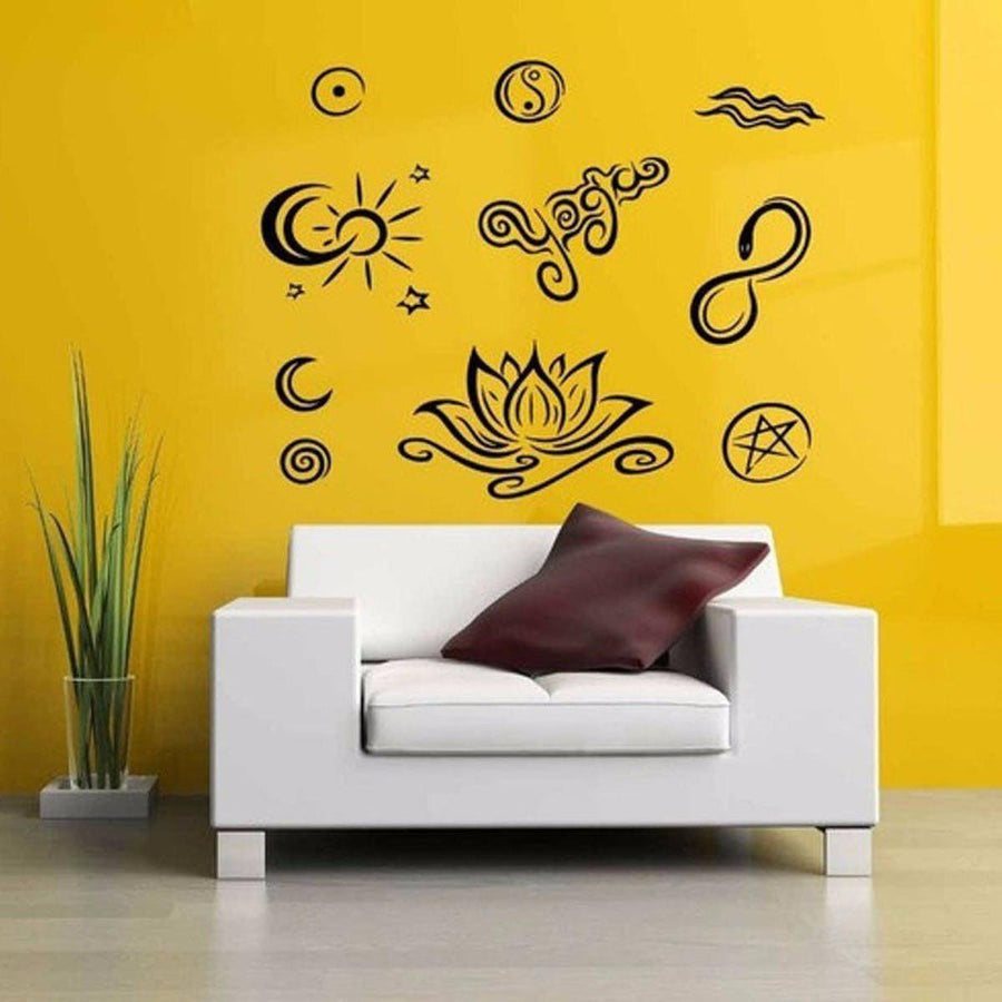 Mandala Wall Sticker Other Wall Sticker mandala-wall-sticker-home-decal-buddha-yin-yang-floral-yoga-meditation-vinyl-decal-wall-art-mural-home-decor-decoration-d175 12