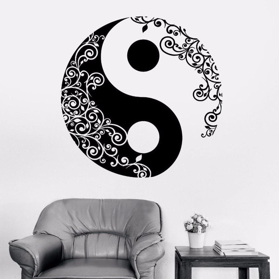 Mandala Wall Sticker Other Wall Sticker mandala-wall-sticker-home-decal-buddha-yin-yang-floral-yoga-meditation-vinyl-decal-wall-art-mural-home-decor-decoration-d175 14