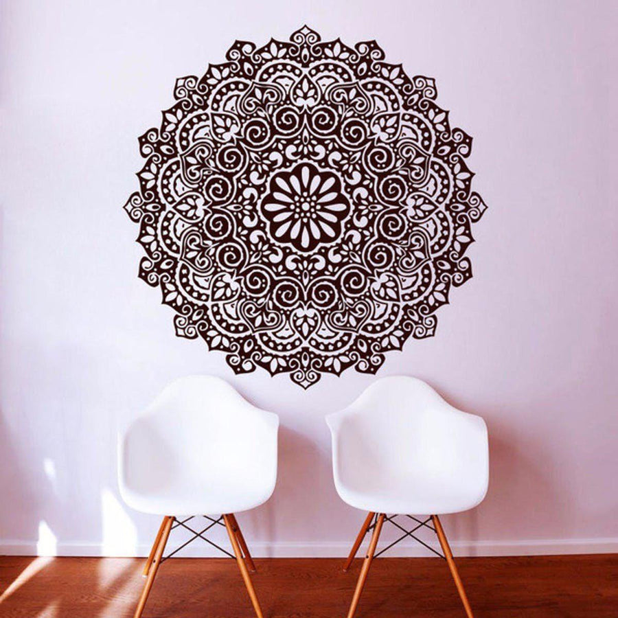 Mandala Wall Sticker Other Wall Sticker mandala-wall-sticker-home-decal-buddha-yin-yang-floral-yoga-meditation-vinyl-decal-wall-art-mural-home-decor-decoration-d175 15