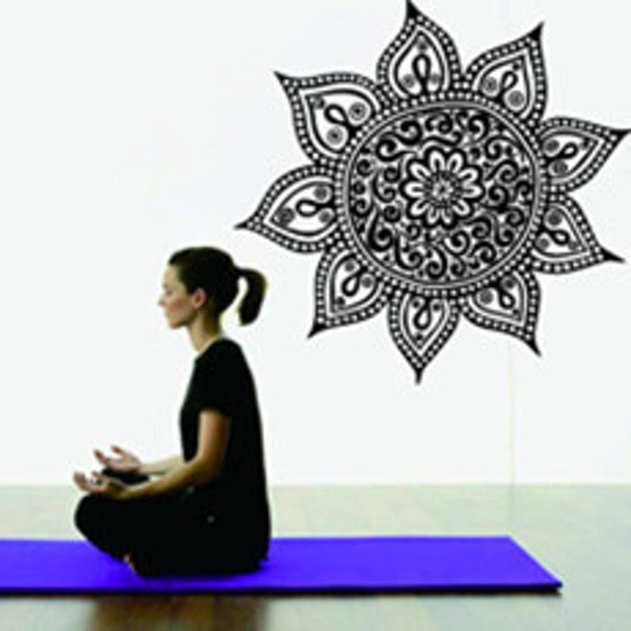 Mandala Wall Sticker Other Wall Sticker mandala-wall-sticker-home-decal-buddha-yin-yang-floral-yoga-meditation-vinyl-decal-wall-art-mural-home-decor-decoration-d175 17