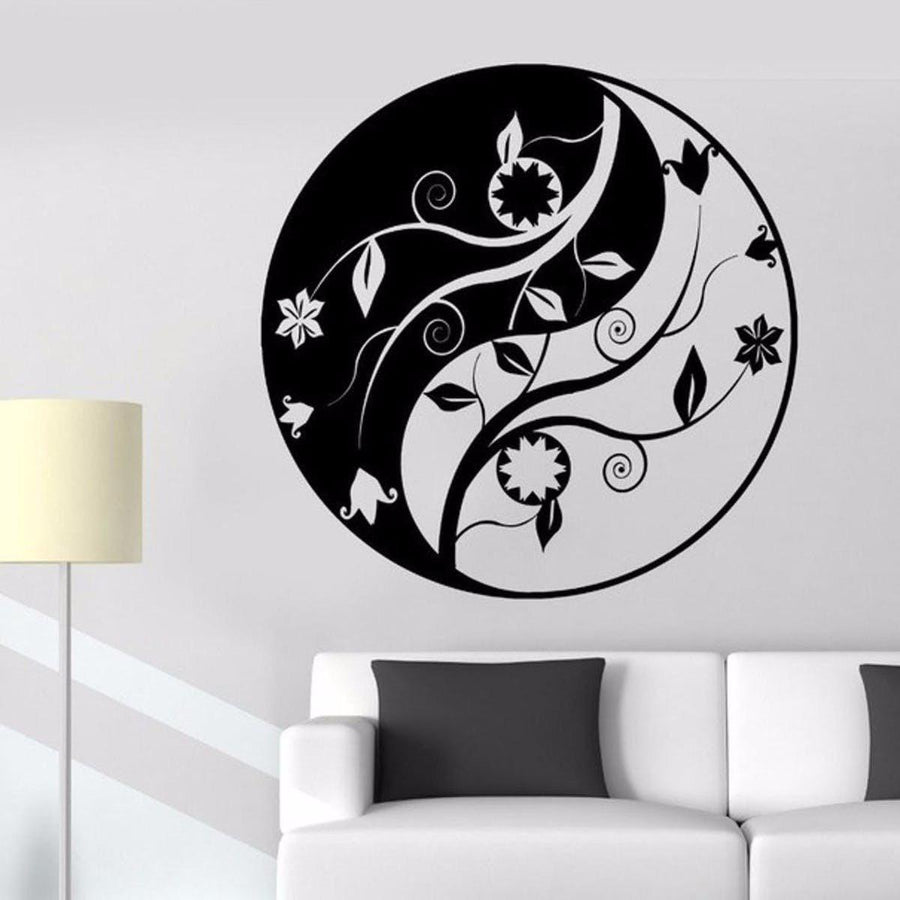 Mandala Wall Sticker Other Wall Sticker mandala-wall-sticker-home-decal-buddha-yin-yang-floral-yoga-meditation-vinyl-decal-wall-art-mural-home-decor-decoration-d175 1