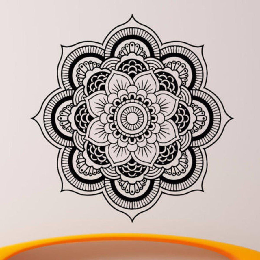 Mandala Wall Sticker Other Wall Sticker mandala-wall-sticker-home-decal-buddha-yin-yang-floral-yoga-meditation-vinyl-decal-wall-art-mural-home-decor-decoration-d175 21