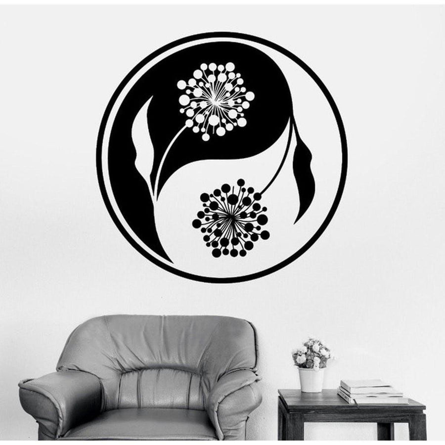 Mandala Wall Sticker Other Wall Sticker mandala-wall-sticker-home-decal-buddha-yin-yang-floral-yoga-meditation-vinyl-decal-wall-art-mural-home-decor-decoration-d175 3
