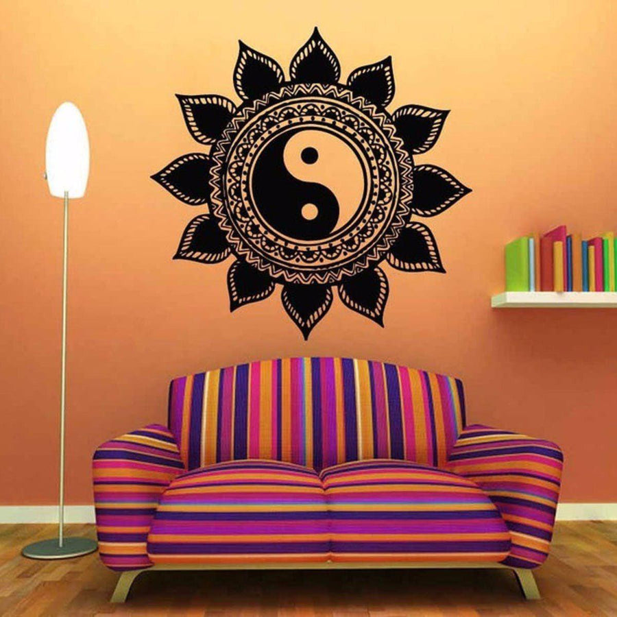 Mandala Wall Sticker Other Wall Sticker mandala-wall-sticker-home-decal-buddha-yin-yang-floral-yoga-meditation-vinyl-decal-wall-art-mural-home-decor-decoration-d175 9