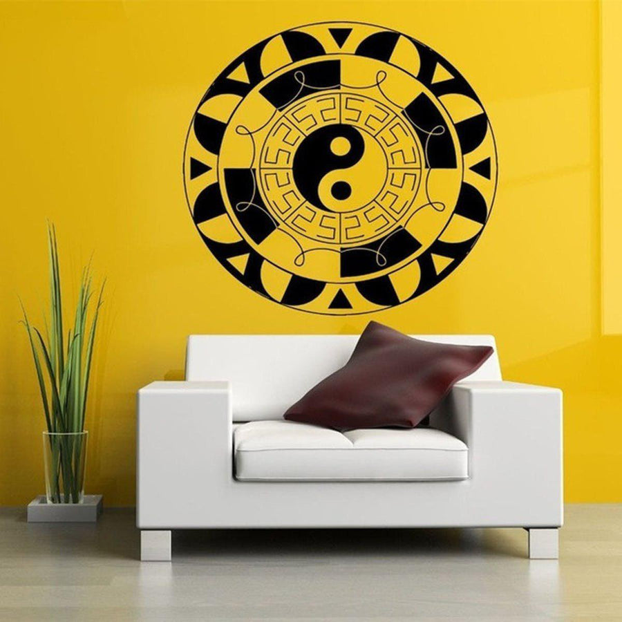 Wall Stickers Mandala Yoga Ornament Indian Buddha Symbol Decal Art - Wall stickers art