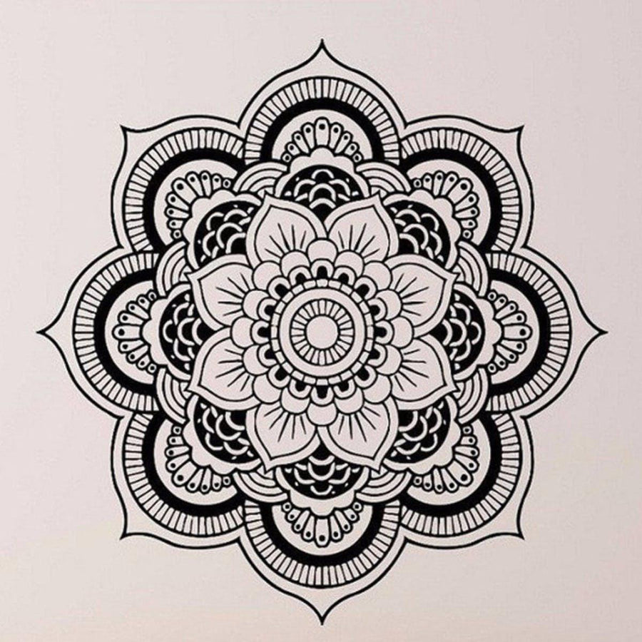 Wall Stickers Mandala Yoga Ornament Indian Buddha Symbol Decal Art
