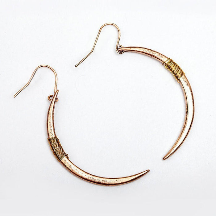 Moon Hook Earrings Earrings moon-hook-earrings Antique Gold