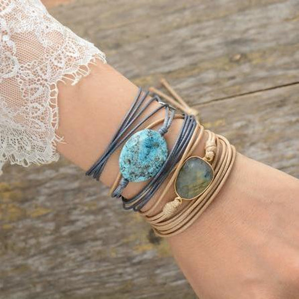 Natural Stone Multi Layers String Bracelet-Spirylife