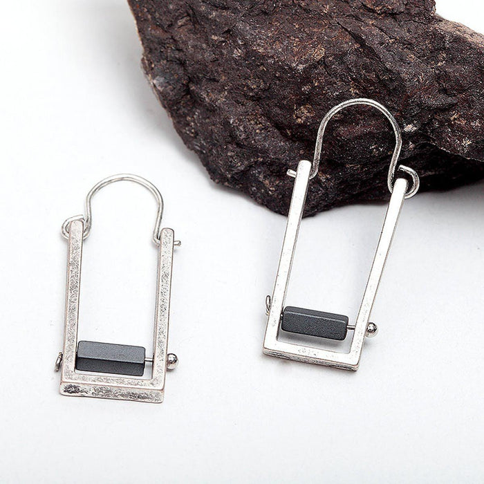Natural Stone Drop Earrings Earrings natural-stone-drop-earrings Antique Silver