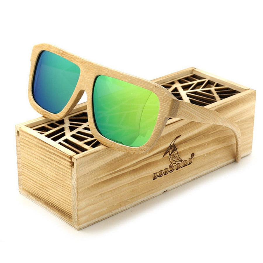 Nature Bamboo Fashion Sunglasses Polarized Vintage Sunglasses for Men Men sunglasses