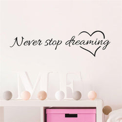 Never Stop Wall Sticker Quotes Wall Sticker never-stop-wall-sticker Default Title
