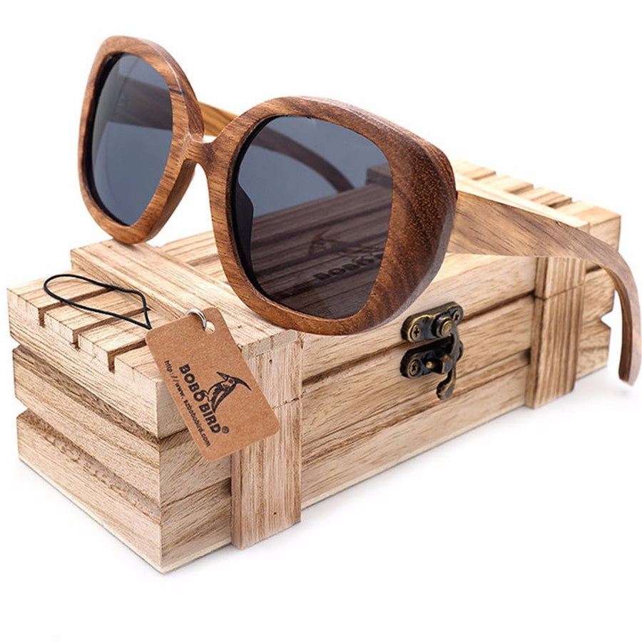 New Mens Vintage Zebra Wood Sunglasses Womens Polarized UV400 Protect Coating Mirror Wood Sun Glasses sunglasses