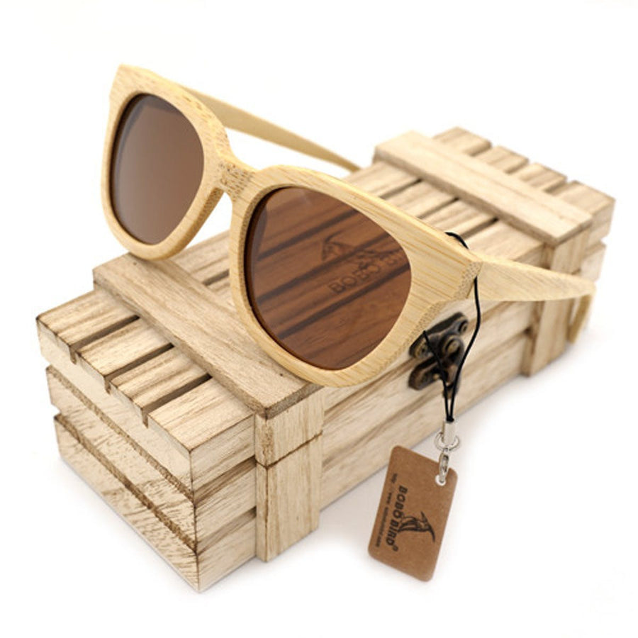 New Style Polarized Bamboo Wood Sunglasses With Wood Box Women sunglasses