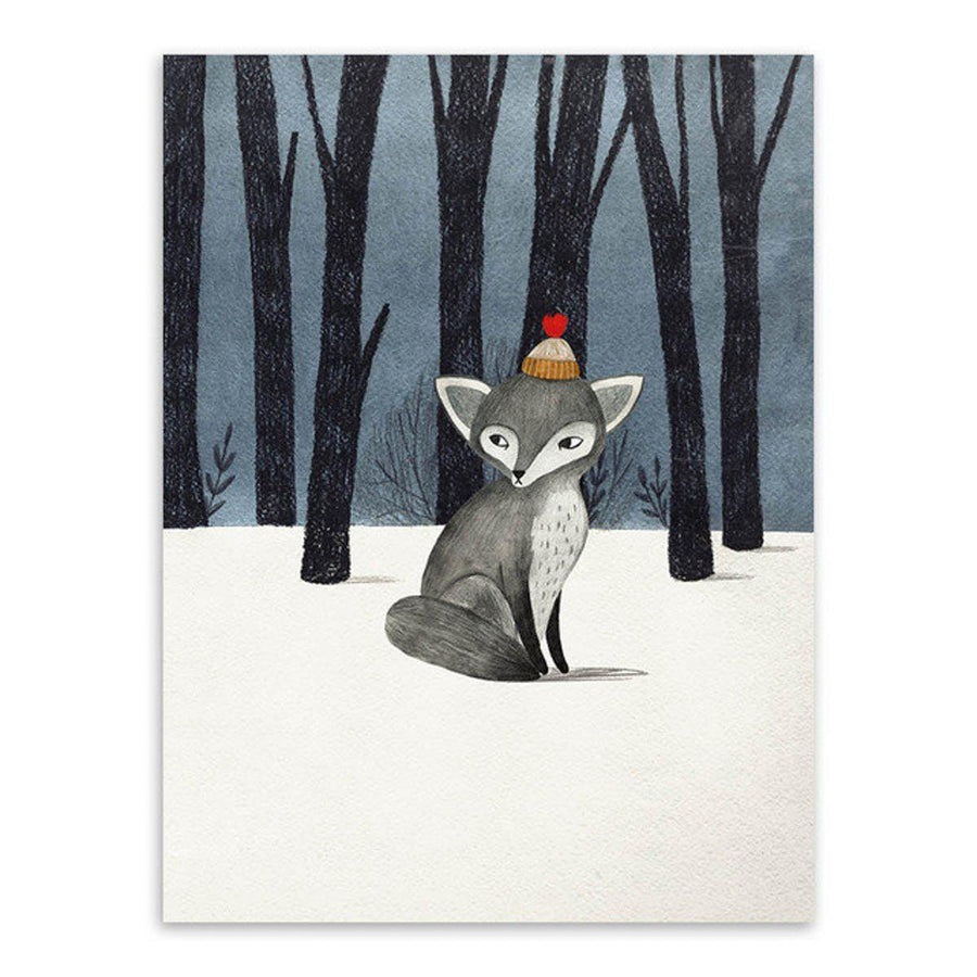 Nordic Animal Art cartoon, Nordic Wall Art nordic-animal-art 13x18 cm No Frame / Hand painted fox