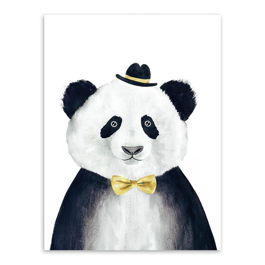 Nordic Animal Art cartoon, Nordic Wall Art nordic-animal-art 13x18 cm No Frame / Hand painted panda