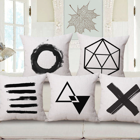 Nordic Geometry Black and White One Side Printing Home Decor Sofa Seat Decorative Cushion Cover Pillow Case pillows pillow nordic-geometry-black-and-white-one-side-printing-home-decor-sofa-seat-decorative-cushion-cover-pillow-case 1