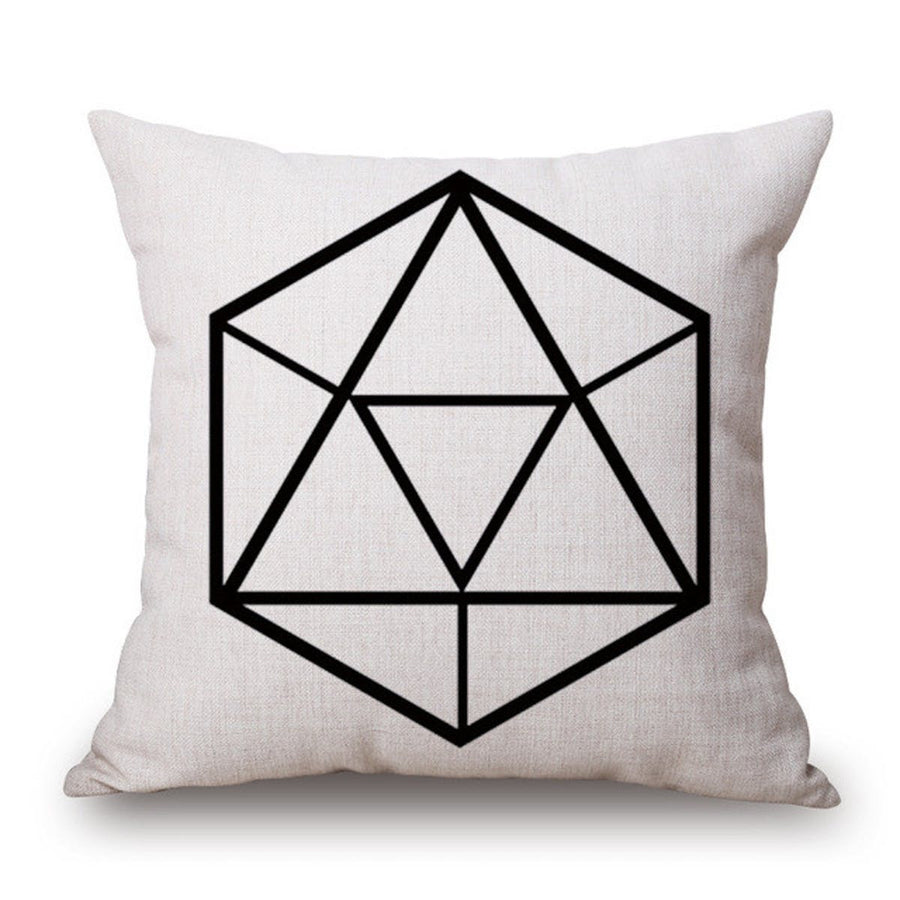Nordic Geometry Black and White One Side Printing Home Decor Sofa Seat Decorative Cushion Cover Pillow Case pillows pillow nordic-geometry-black-and-white-one-side-printing-home-decor-sofa-seat-decorative-cushion-cover-pillow-case 2