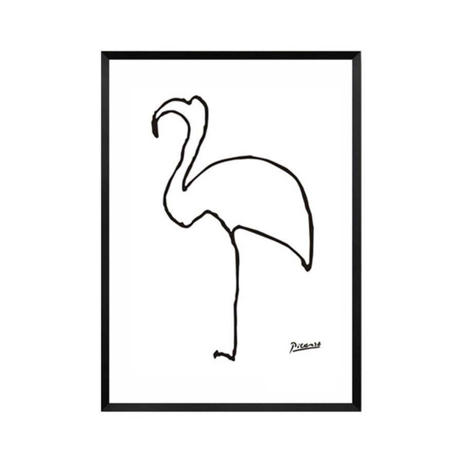 Pablo Picasso Abstract Canvas Wall Art pablo-picasso-abstract-canvas A4 21x30cm no frame / flamingo