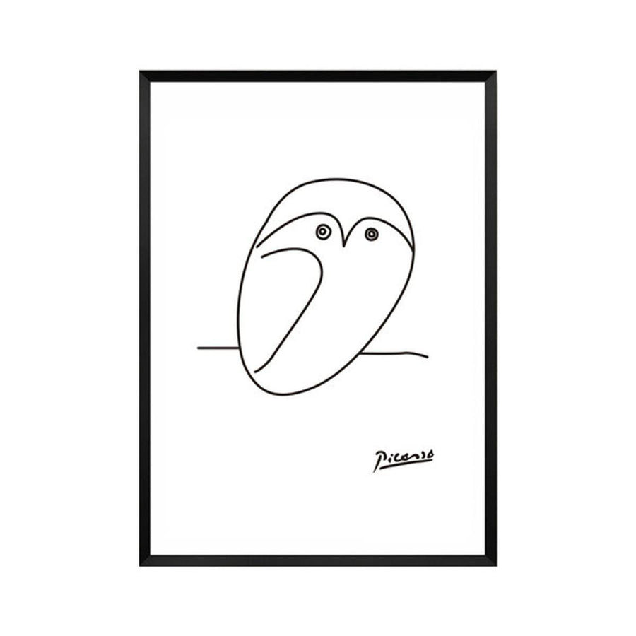 Pablo Picasso Abstract Canvas Wall Art pablo-picasso-abstract-canvas A4 21x30cm no frame / owl