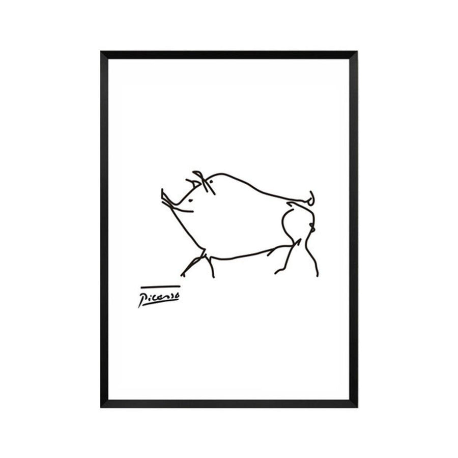 Pablo Picasso Abstract Canvas Wall Art pablo-picasso-abstract-canvas A4 21x30cm no frame / pig