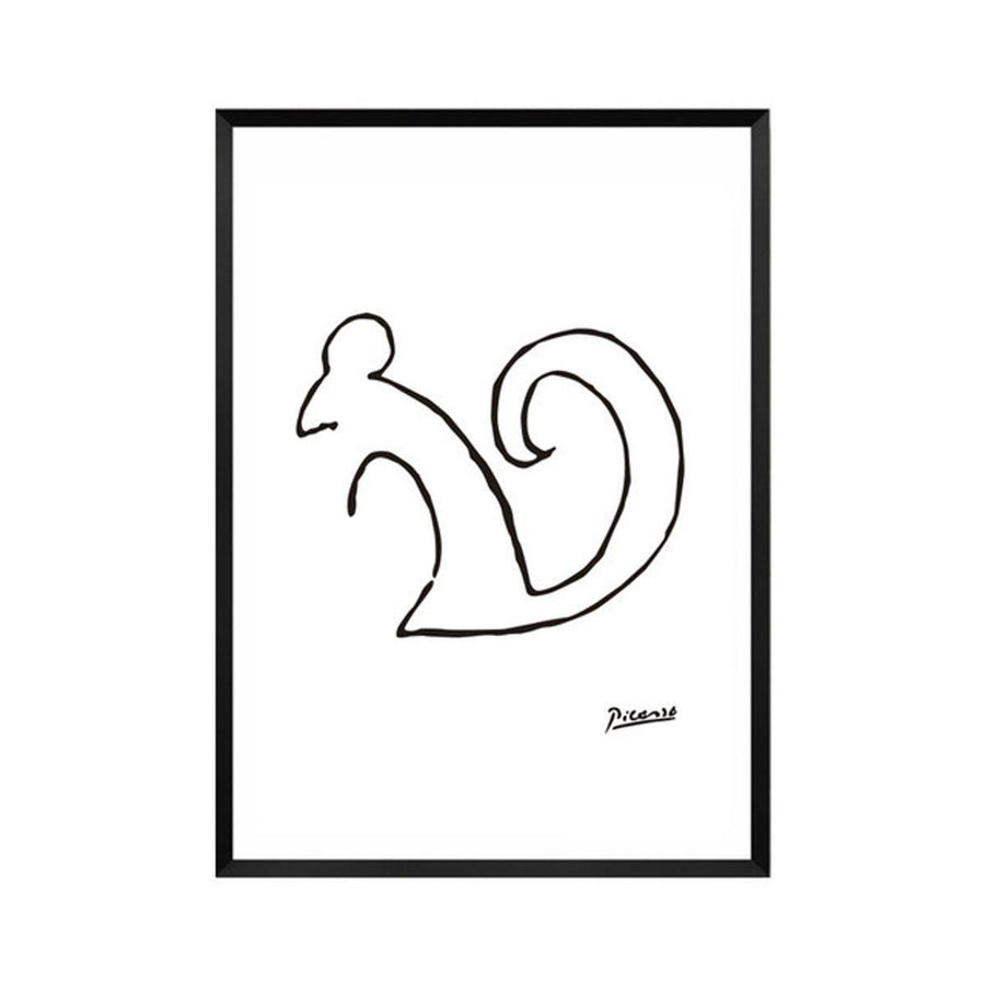 Pablo Picasso Abstract Canvas Wall Art pablo-picasso-abstract-canvas A4 21x30cm no frame / squirrel