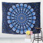 Peacock Blue Indian Hippie Bohemian Mandala Wall Hanging Bed Cover Yoga Blanket Tapestry Tapestrie